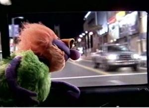 Mahna Mahna driving down the highway