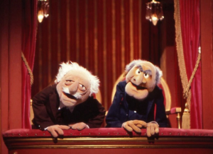 Waldorf and Statler heckle